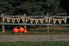 12 Happy Halloween Trick Or Treat Burlap Banner Rustic Indoor Outdoor Decor