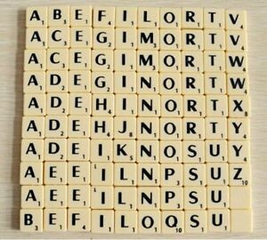 Image Is Loading Plastic Ivory Individual A Z Scrabble Tiles With Black