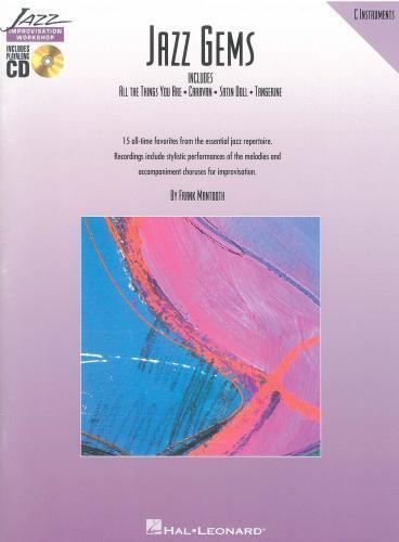 Treble Clef Book//CD Jazz Gems C instrument ed Mantooth HE00841132