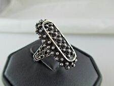 Vintage NORWAY FINN JENSEN Sterling Silver Bead Ring Adjustable 456C