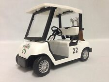 """Golf Cart EZ-GO 5"""" Die Cast Metal With Caddy Cart And Full Sets Clubs Toy"""