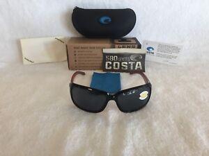 c352e4161c10 NEW Costa Del Mar Isabela Polarized Sunglasses Black Coral Gray 580P ...