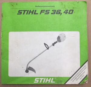 Stihl fs80/85/85t weed wacker oem oem owners manual: stihl fs80/85.