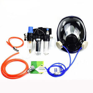 Chemical Paint Spray 3 in 1 Air Fed Respirator System 6800 Full Face Gas Mask