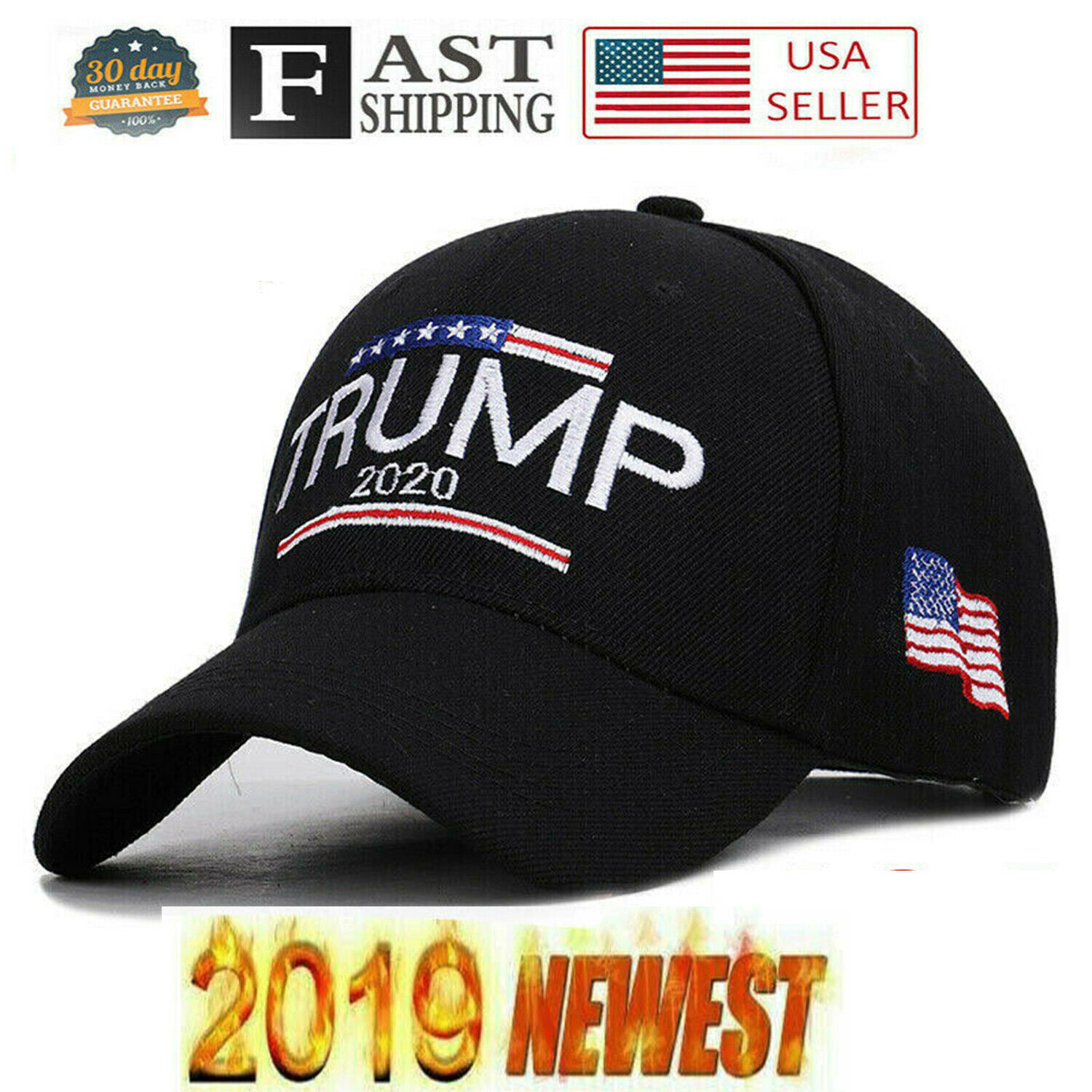 President Donald Trump 2020 Keep Make America Great Again Cap Embroidered  CL