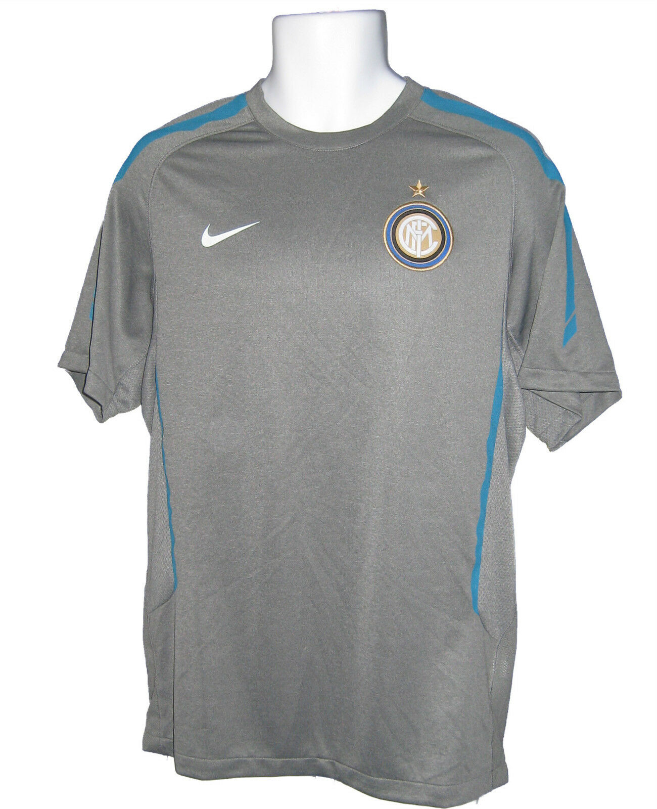 Neues NIKE INTER MILAN FOOTBALL Training Pre Match Shirt grau M