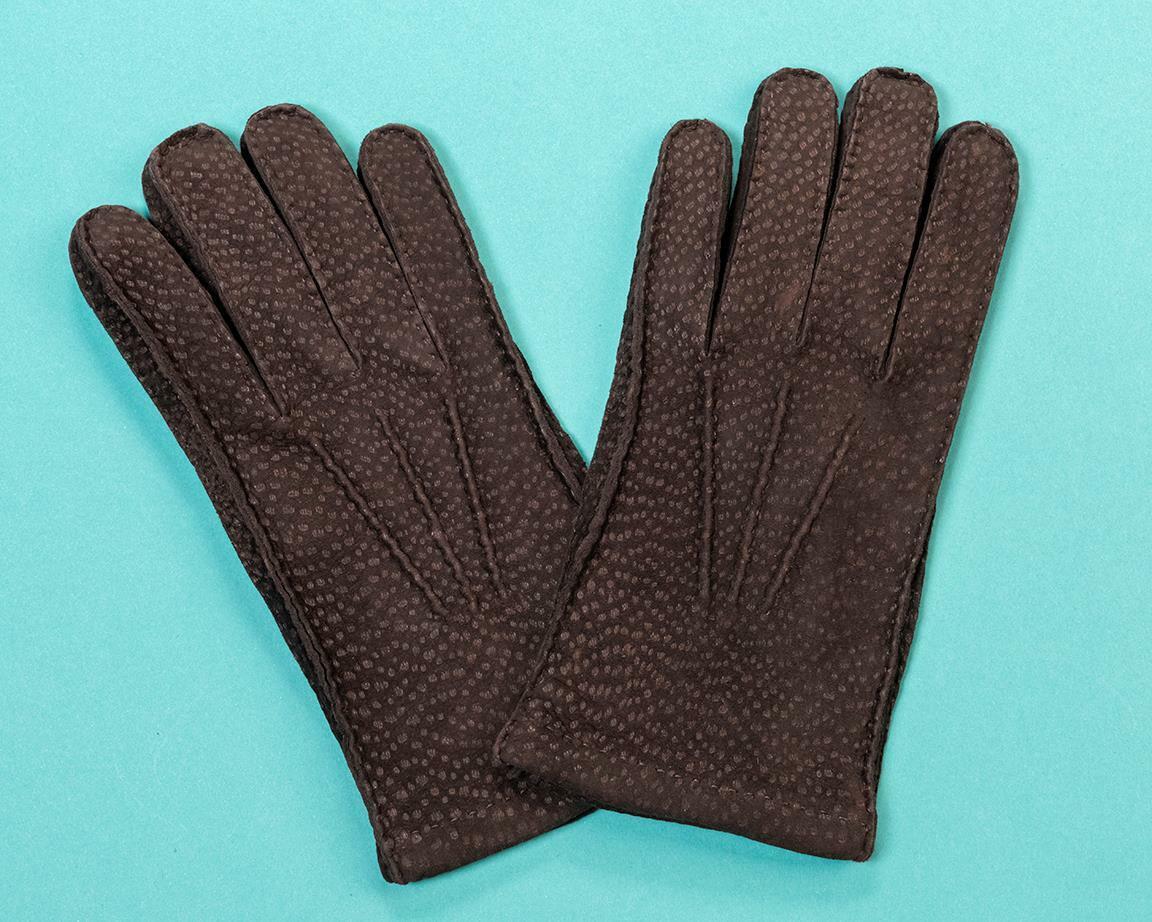 Paul Stuart Peccary Cashmere Lined Gloves