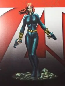 35mm Resin Figure Model Kit SuperHero Black Widow Unpainted Unassambled