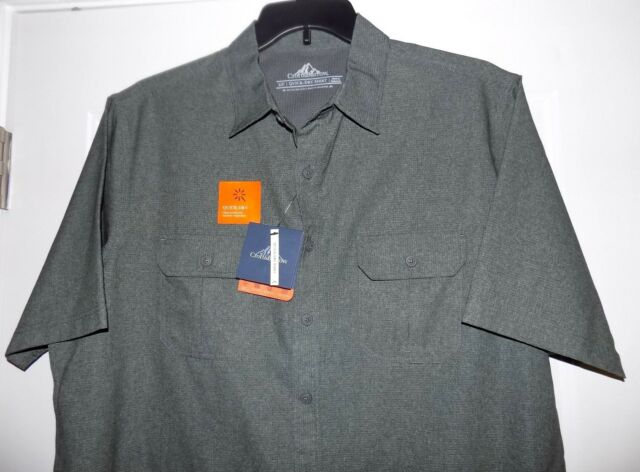 Mens Croft /& Barrow Quick Dry Vented Shirt 3XB Button Front Short Sleeve NWT