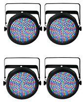 Chauvet SlimPar 64 LED DMX Slim Par Can Stage Pro DJ RGB Light Effect (4 Pack)