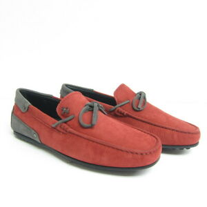 baf12deb31c P-757999 New Tods Ferrari Red Suede Gommini Drivers Loafers Shoes US ...