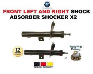FOR PEUGEOT PARTNER VAN 1996 >ON FRONT LEFT + RIGHT SHOCK ABSORBER SHOCKER X2