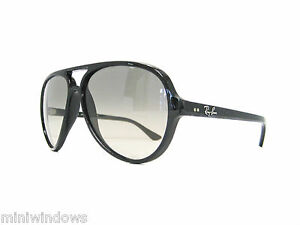 666bd7f06fe new authentic RAY BAN CATS 5000 Sunglass Black Grey Gradient 59mm ...