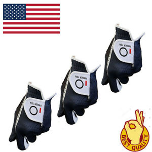 Golf-Glove-3-Pack-Men-039-s-Value-Stable-Grip-Left-Right-Hand-Hot-Wet-Rain-Weather