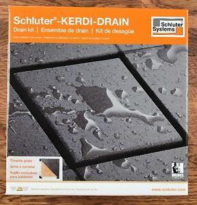 Schluter Kerdi Shower Drain Kit Tileable Grate Pvc