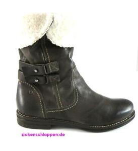 Donna-Carolina-Stiefelette-Lammfell-Gr-37-Braun-TDM-Laessig-amp-Warm-NEU-Boot