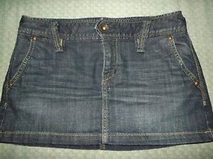 JUNIORS X2 DENIM MINI SKIRT sz 6