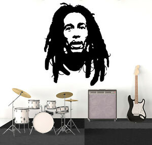 Image Is Loading Bob Marley Wall Art Decal Vinyl Sticker Decor