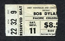 Bob Dylan 1978 Concert Ticket Stub Street Legal Tour Vancouver Pacific Coliseum