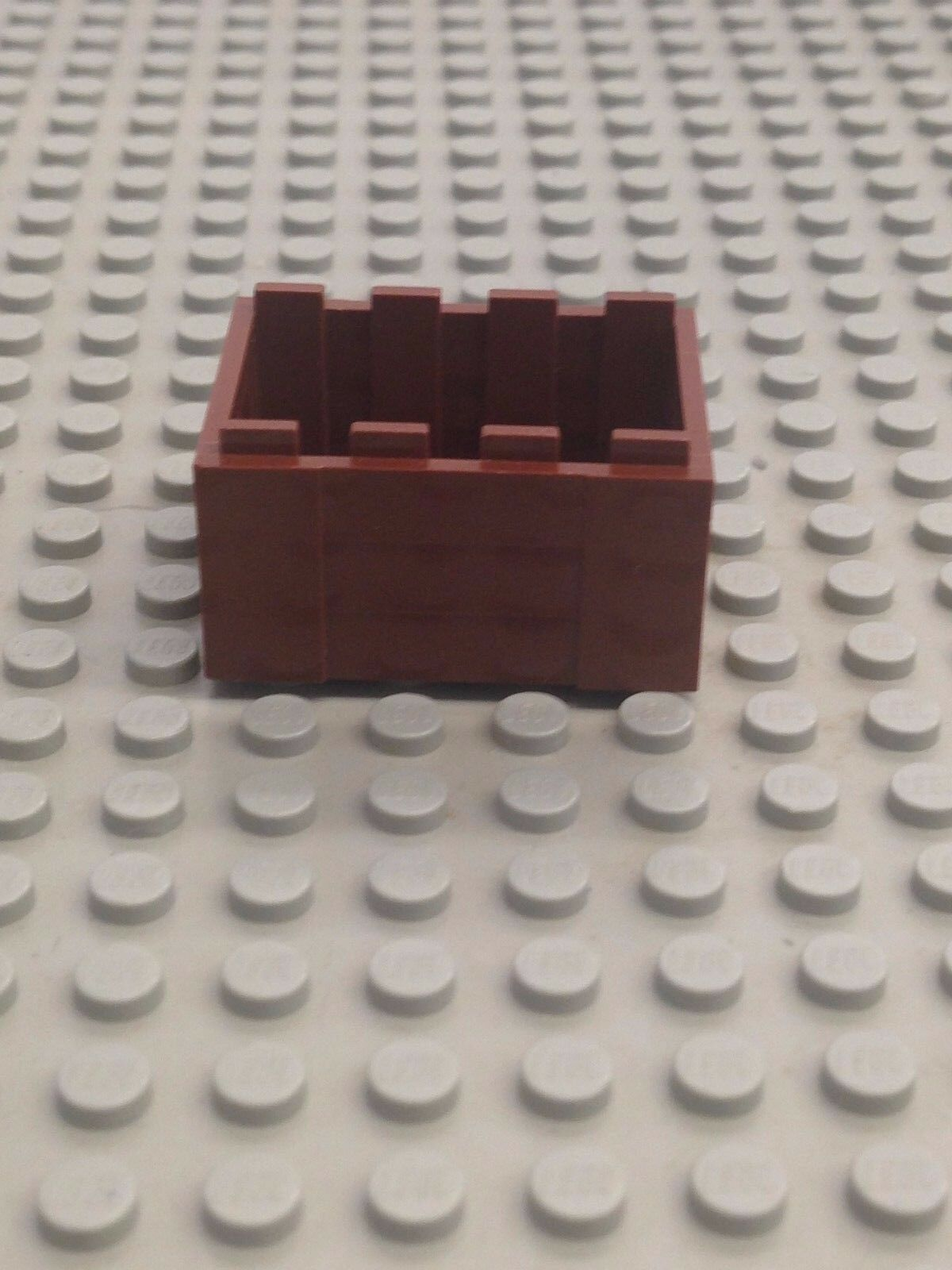 Lego Legos Set of 2 NEW Container Crate with Handholds BROWN