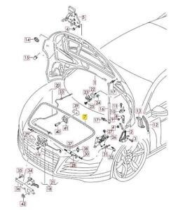 New Genuine AUDI R8 (2007-2015) Front Frunk Bonnet Lid Seal 420823731A OEM