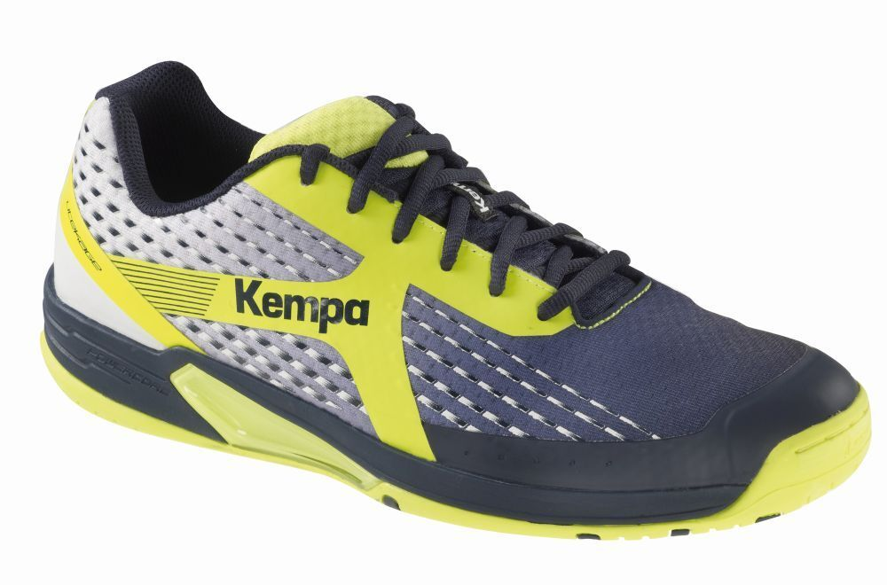hot sale online dfb9c c0725 Kempa Kempa Kempa Uomo Wing pallamano scarpe scarpe sportive Marine BIANCO  FLUO GIALLO aeffe4