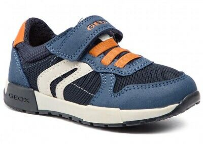Geox Respira Afier J846NC Chaussures Garçon Enfant Baskets Cuir en Daim Tissu | eBay