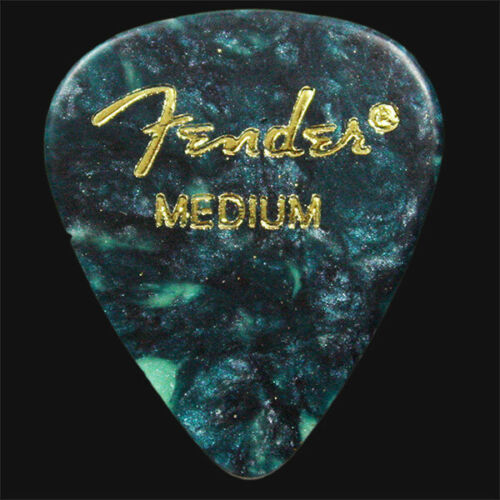 Heavy Or A Mix Med 12 Fender Celluloid Guitar Picks Ocean Turquoise Thin