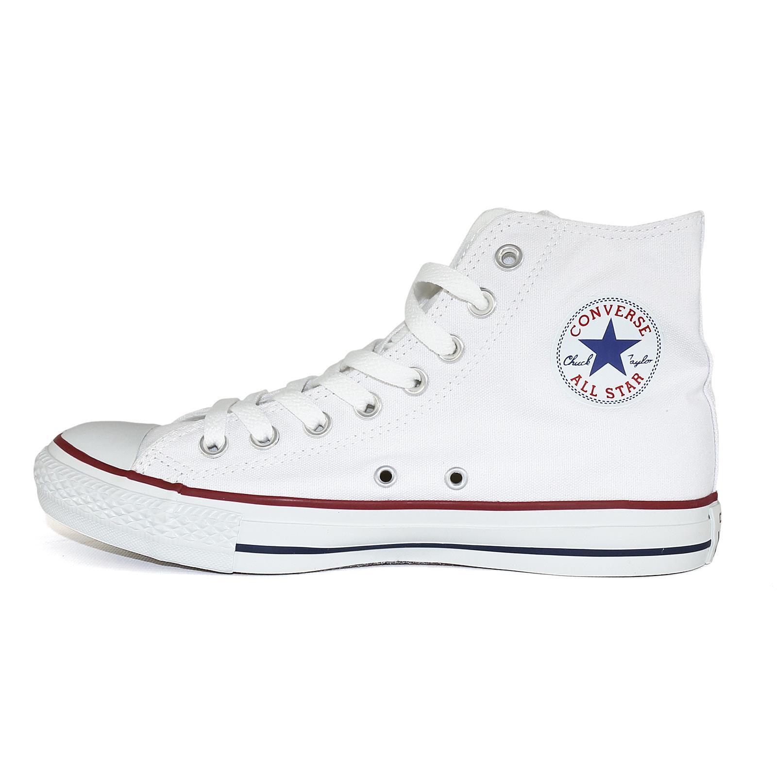 Converse All Star HI Chucks Scarpe da Ginnastica Unisex Scarpe Bianche 50667