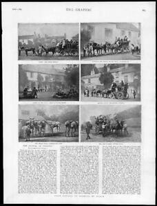 1895-Antique-Print-LONDON-Boxhill-Coach-Epsom-Leatherhead-Putney-Vale-176