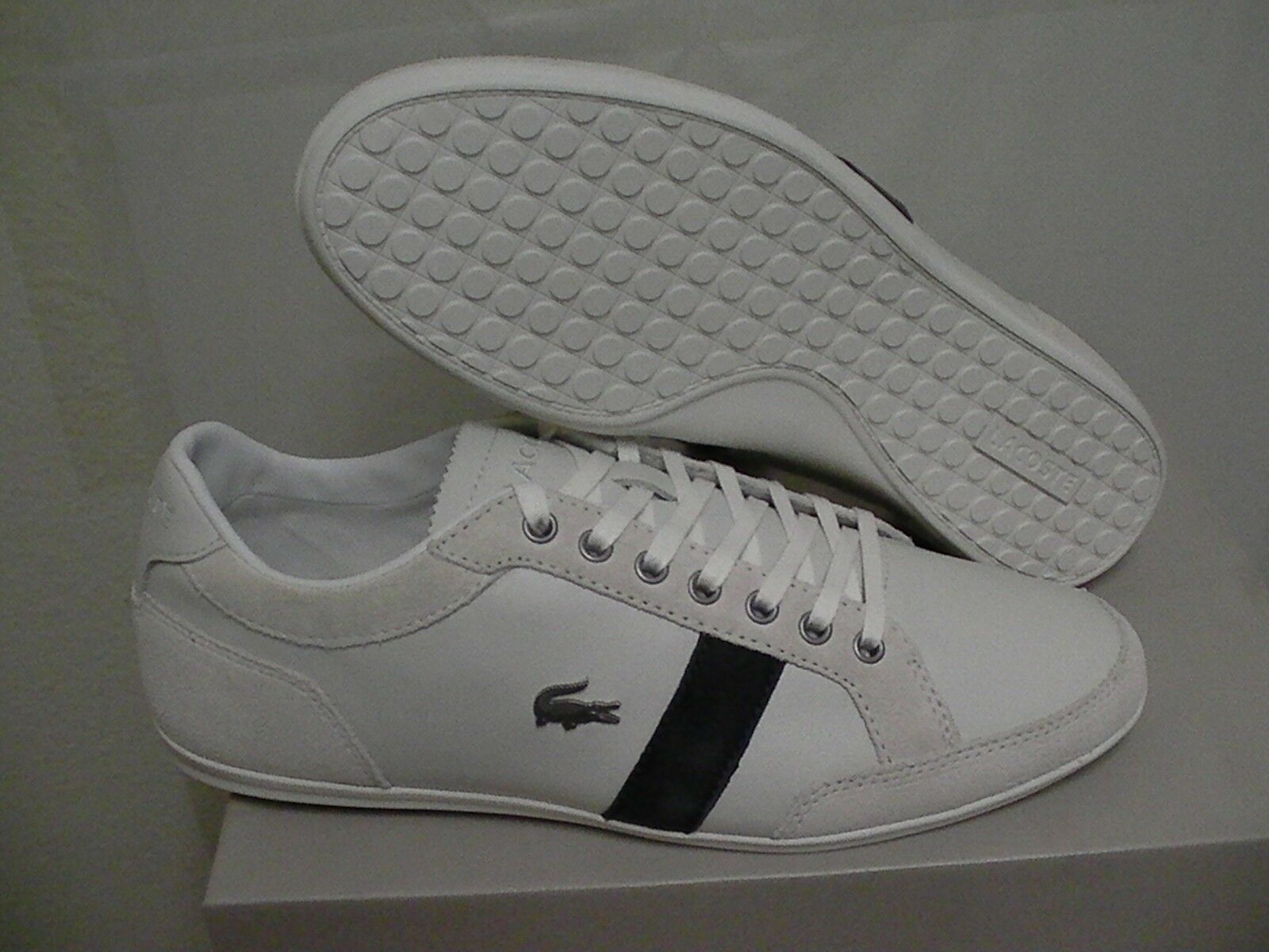 Lacoste shoes alisos 14 spm off white leather/suede size 10.5 us