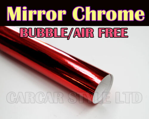 Mirror Chrome 【RED 1 Meter x 0.75 Meter】 Wrap Vinyl【BUBBLE FREE】Vehicle Sticker