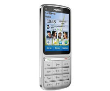 Nokia C Series C3-01 - Silver (Unlocked) WIFI  Cellular Phone