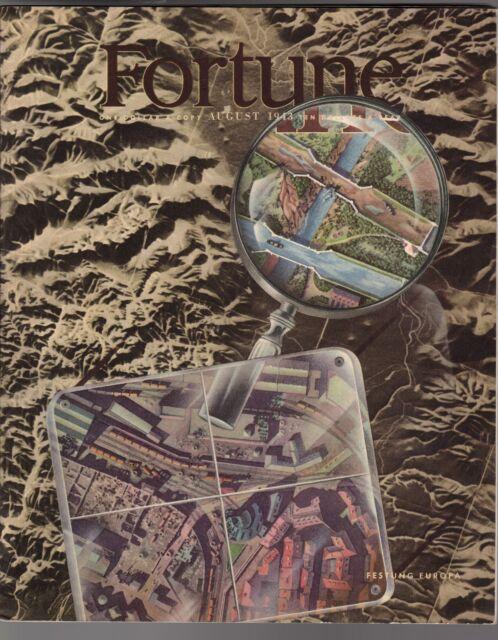 1943 Fortune August-Boulder Dam; Mexico Modern Art;Butler;Hot Springs;Television