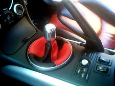 FITS MAZDA RX8 GEAR GAITER SHIFT BOOT 2 TONE BLACK RED TONE  2003+