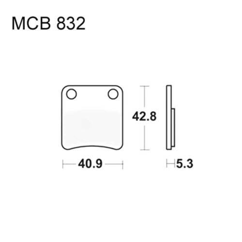 TRW Lucas Bremsklötze Standard MCB832P 3322938009724