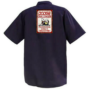 DODGE-Challenger-SCAT-Pack-MECCANICA-Graphic-Work-Shirt-a-Manica-Corta