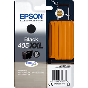 Genuine Epson 405XXL Extra High Capacity Black  Ink Cartridge T02J140 Box