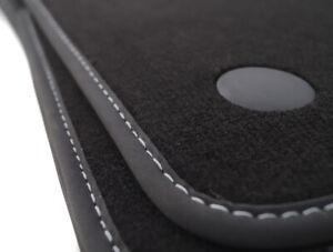 Velours schwarz Fußmatten passend für MERCEDES E-Klasse W211 S211 Facelift