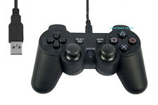 Negro Usb Playstation PS2 Controlador Gamepad PC Notebook Laptop Windows ganar