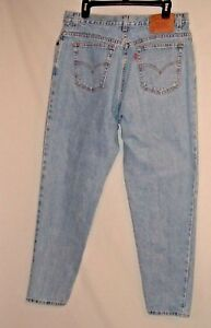 5f5c0822 VINTAGE LEVIS 550 HIGH WAIST WOMEN'S RELAXED TAPERED MOM JEANS 16 L ...