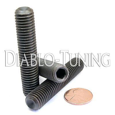 DIN 916 CUP Point Socket SET SCREWS Black Alloy 45H M4-0.70 x 25mm Qty 10