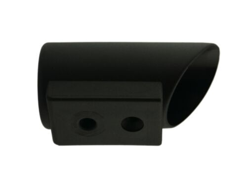 Winkelgleiter Ø 38mm schwarz Bodengleiter Kappe Fußkappen Tischkappen Rohrkappe