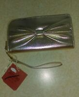 Mossimo Supply Co Gold Faux Leather Hand Clutch