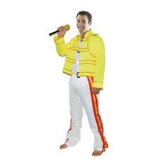 80's Freddie Mercury Costume Wembley Rock Star Mens Freddy Fancy Dress Outfit