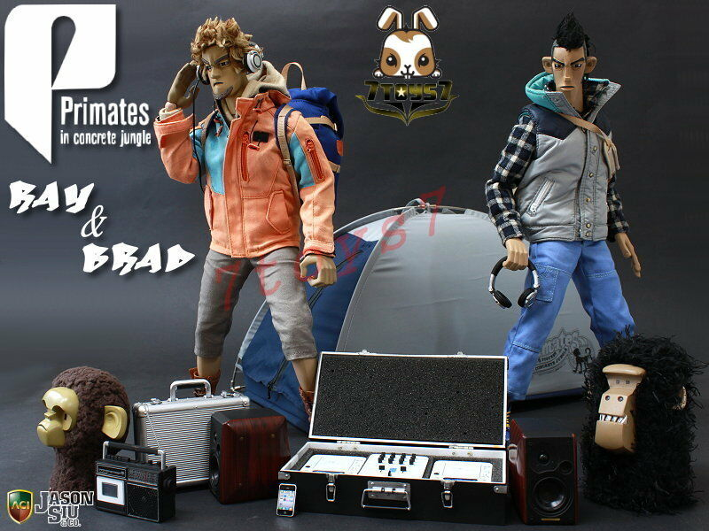 ACI Toys x Jason Siu 1 6 Primates in in in concrete jungle_ Combo Set + Tent _AT040Z 226944