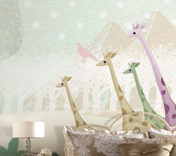 3D molti giraffe Parete Murale Foto Carta da parati immagine sfondo muro stampa