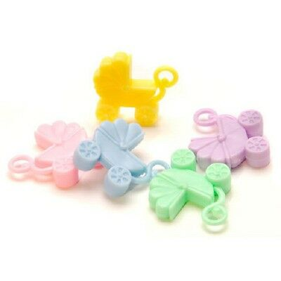 Openhartig Baby Shower Favor Baby Carriage Plastic Charms Pastel Approx 1 Inch B82* Modieuze Patronen