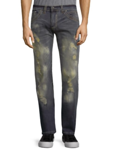 Affliction Men's Cooper Boot Cut Jeans Size 31 x 33 NWT Detroit Wash Rips