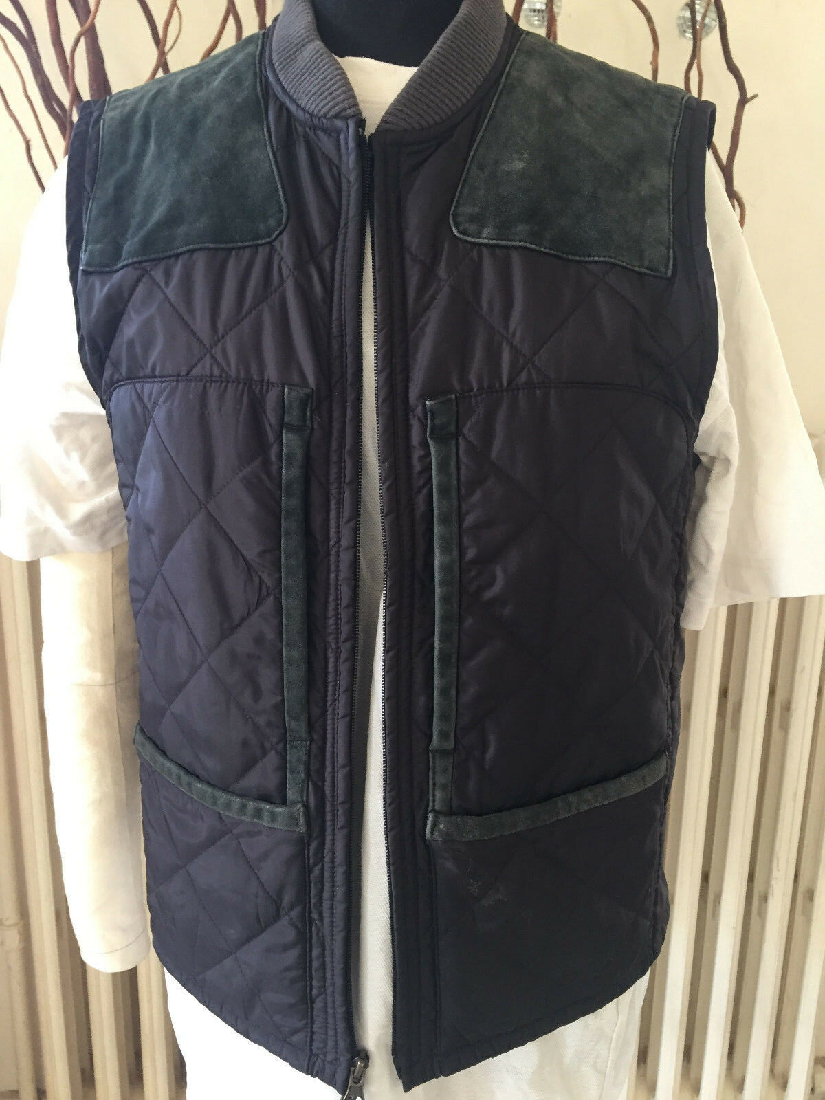 Polo Ralph Lauren navy bluee hunting shooting gilet vest - size small